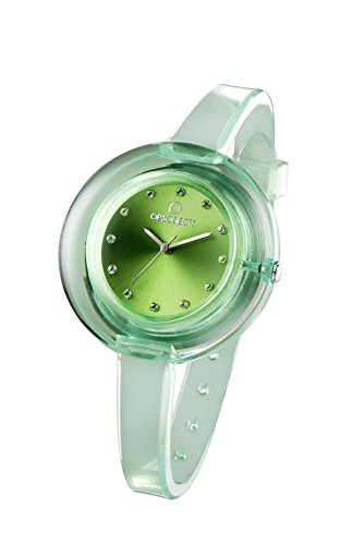 OPSOBJECTS OPS NUDE WATCHES Armbanduhr Uhrarmband Uhrband gruen transparent silber