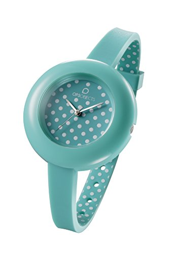 OPSOBJECTS OPS POIS WATCHES Armbanduhr Uhrarmband Uhrband gruen weiss silber