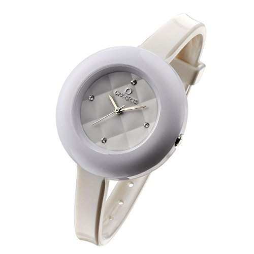 OPSOBJECTS · OPS!MATELASSÈ CRYSTAL WATCHES · Armbanduhr | Uhrarmband | Uhrband · weiss silber