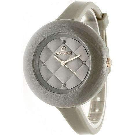 OPSOBJECTS · OPS!MATELASSÈ CRYSTAL WATCHES · Armbanduhr | Uhrarmband | Uhrband · perlgrau beige grau gold