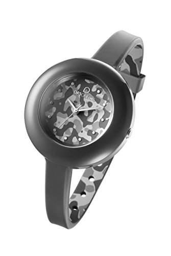 OPSOBJECTS · OPS!CAMO WATCHES · Armbanduhr | Uhrarmband | Uhrband · camouflage grau dunkelgrau silber