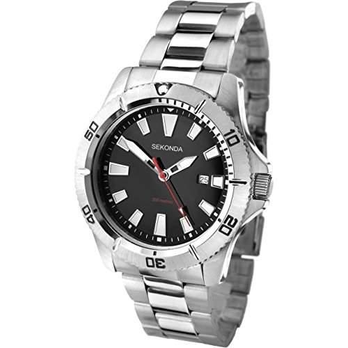 Sekonda Herren-Armbanduhr Analog Quarz 100727