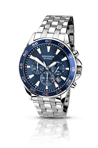 Sekonda Herren-Armbanduhr Chronograph Quarz 105827