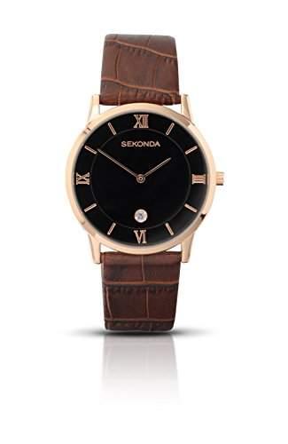 SEKONDA Herren-Armbanduhr Analog Formgehaeuse schwarz 320727