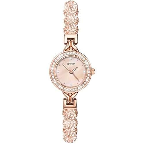 Sekonda Damen-Armbanduhr rosagoldfarbig Analog 4215