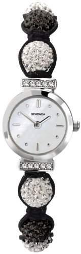 Crystalla by Sekonda Damen-Armbanduhr Nylon mehrfarbig 471227