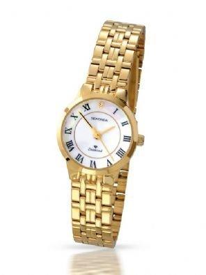 Damen Sekonda Vergoldet Diamant Einfassung Uhr 4311
