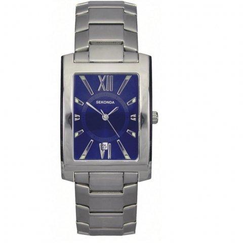 Herren Edelstahl quadratisch Face Armbanduhr