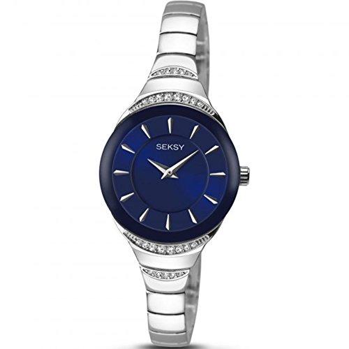 Sekonda Seksy Damen Kleid Armband Uhr Blau Zifferblatt Crystal Set Fall 2293