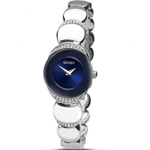 Sekonda Seksy Damen Kleid Armband Uhr Blau Zifferblatt Crystal Set Fall 2295