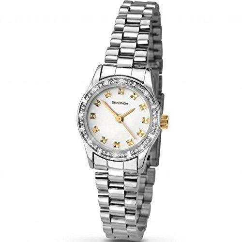 Sekonda Kristalle Zwei Ton Uhr 2112