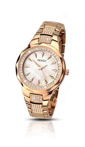 Sekonda Seksy Analog Quarz Perlmutt Zifferblatt goldfarbenes Armband 2186