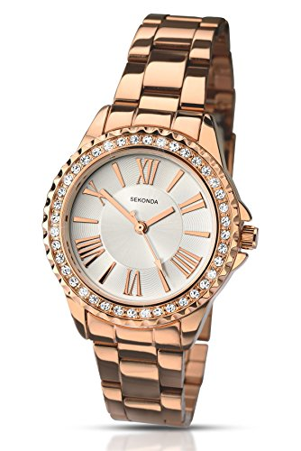 Sekonda Damen Sommer Editions Crystal Set Armband Armbanduhr Rose Gold 2358