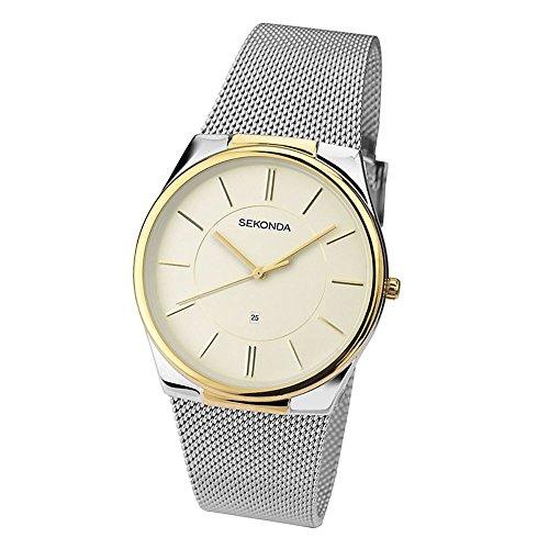 Sekonda Herren Edelstahl Armbanduhr Mesh Armband 1179