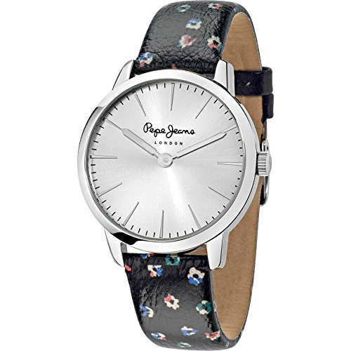 Pepe Jeans Damen Armbanduhr Amy Analog Quarz Leder R2351122505