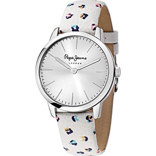 Pepe Jeans Damen Armbanduhr Amy Analog Quarz Leder R2351122506