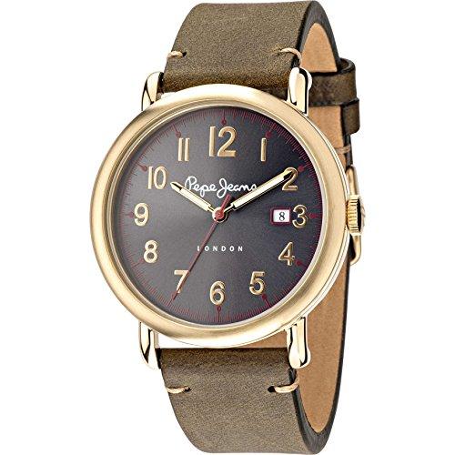 Pepe Jeans Herren Armbanduhr Charlie Analog Quarz Leder R2351105007