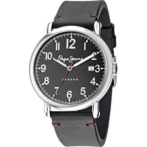 Pepe Jeans Herren Armbanduhr Charlie Analog Quarz Leder R2351105008