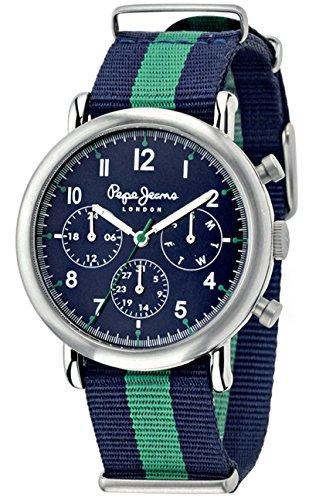 Pepe Jeans Uhr mit japanischen Quarz Bewegung Man Charlie 49 5 mm R2351105009 BLUE GREEN