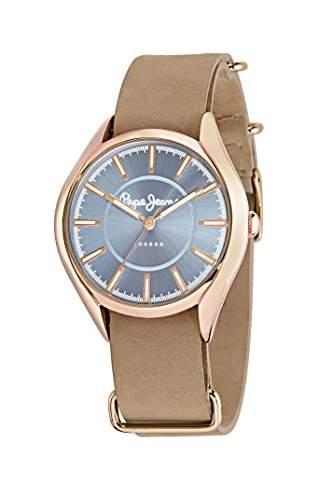 Pepe Jeans Damen-Armbanduhr CARA Analog Quarz Leder R2351103504