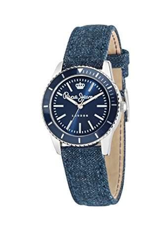 Pepe Jeans Damen-Armbanduhr CHARLIE Analog Quarz Leder R2351105006