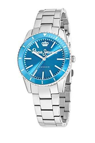 Pepe Jeans Damen-Armbanduhr BRIAN Analog Quarz Silikon R2351106002