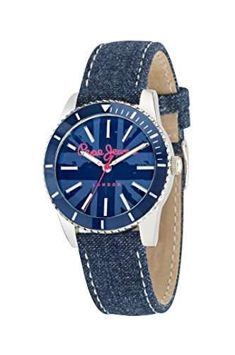 Pepe Jeans Damen-Armbanduhr BRIAN Analog Quarz Silikon R2351106006