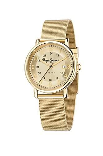 Pepe Jeans Damen-Armbanduhr MARLON Chronograph Quarz Leder R2351107001