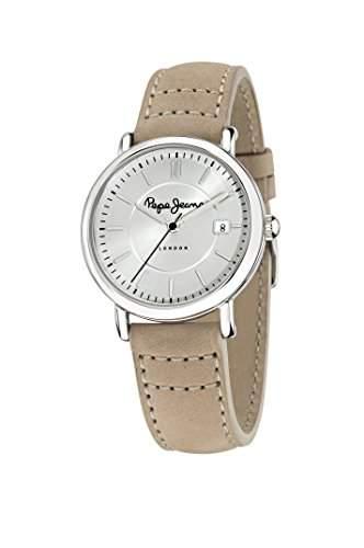 Pepe Jeans Damen-Armbanduhr MARLON Chronograph Quarz Leder R2351107004