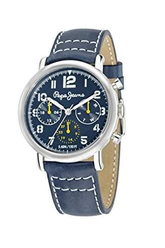 Pepe Jeans Herren-Armbanduhr STEVE Analog Quarz Edelstahl beschichtet R2351108002
