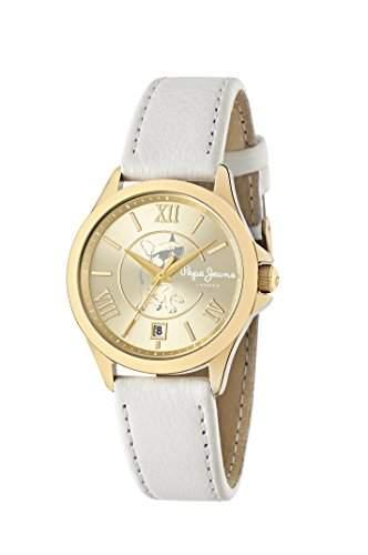 Pepe Jeans Damen Uhrenbeweger Collection KATY Leder weiss R2351114501