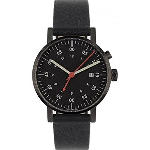 Void V03A BL BL BL Unisex Stailess Schwarz Lederband Schwarz Dial Analog Watch
