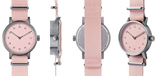 Void V03B BR PK PK Unisex Edelstahl Pink Nylon Armband Pink Zifferblatt Analog uhr