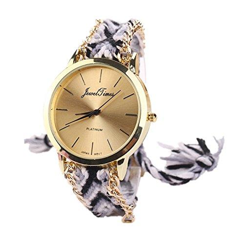 JewelTimes minimal gold geflochten Armband 3015 schwarz