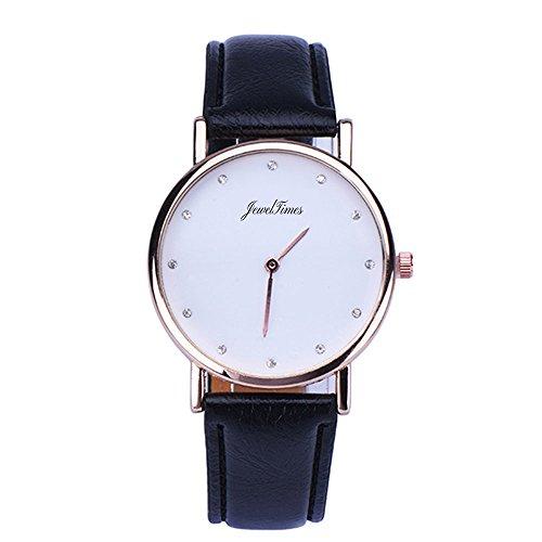 JewelTimes minimal Zifferblatt Lederband 3018 schwarz