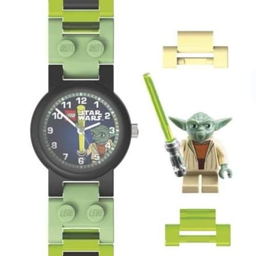 Lego Jungen-Armbanduhr Star Wars Yoda Analog Kunststoff mehrfarbig 740417