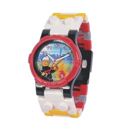 """Lego Unisex-Armbanduhr Montre LEGO Enfant """"City Fireman"""" Analog Kunststoff mehrfarbig 740426"""