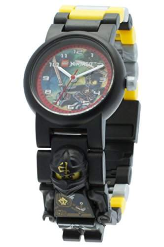 LEGO Unisex-Armbanduhr Ninjago Jungle Cole Analog Quarz Plastik 8020127