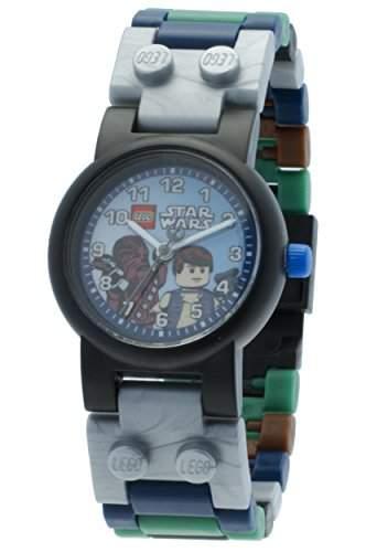 LEGO Unisex-Armbanduhr Star Wars Han Solo & Chewbacca Uhr Analog Quarz Plastik 8020400
