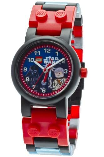 Lego Kinder-Armbanduhr Star Wars Darth Vader and Obi-Wan kids watch with minifigures Analog Plastik Mehrfarbig 9001192