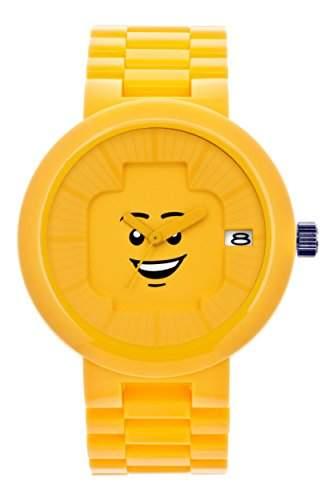 LEGO Erwachsenen Uhr - Happiness gelb