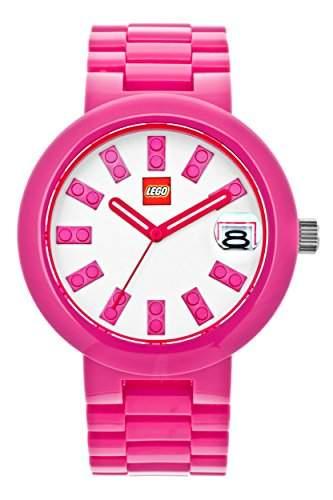 LEGO Erwachsenen Uhr - Brick rosa