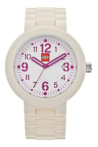 LEGO Erwachsenen Uhr - Silhouette weissrosa