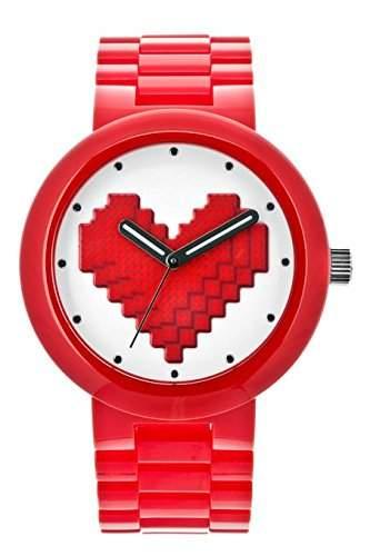 LEGO Erwachsenen Uhr - Be Mine rot