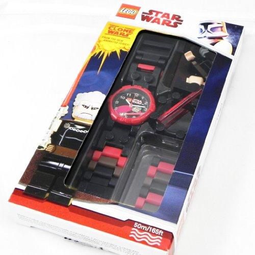 LEGO 011101res122010g911700 Armbanduhr Armband aus Edelstahl Farbe Rot