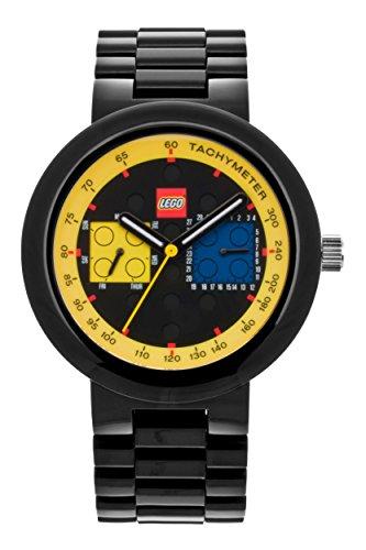 LEGO Erwachsenen Uhr Two by Two schwarz gelb