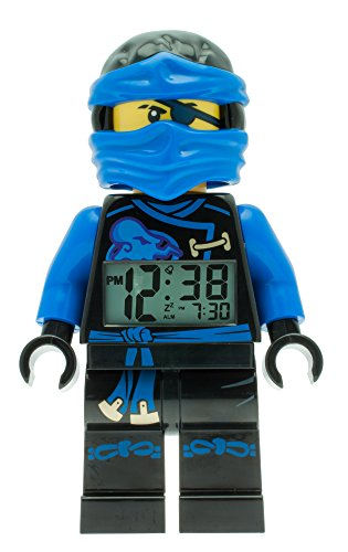 LEGO Unisex Wecker Digital Blue 9009433