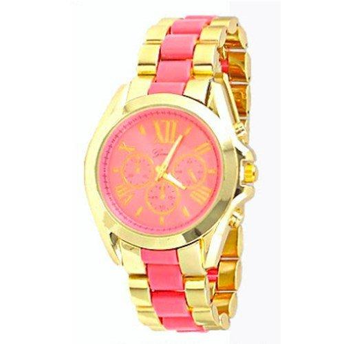 Gold Armband Uhr Genf Entwerfer Art Kristall Luenette Frauen Cuff