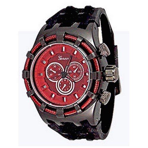 Rot Black Herren Genf Uhr Modedesigner Maxi Sport Silikon Kasten