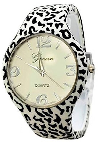 Geneva Armbanduhr Armreif im Zebra Design stilvolles Design